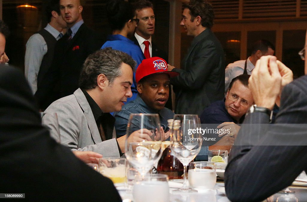 Juan Rovira, Jay Z and Robert Furniss-Roe attend private dinner hosted by Jay at Scarpetta, Fontainbleau Hotel on December 9, 2012 in Miami Beach, Florida.