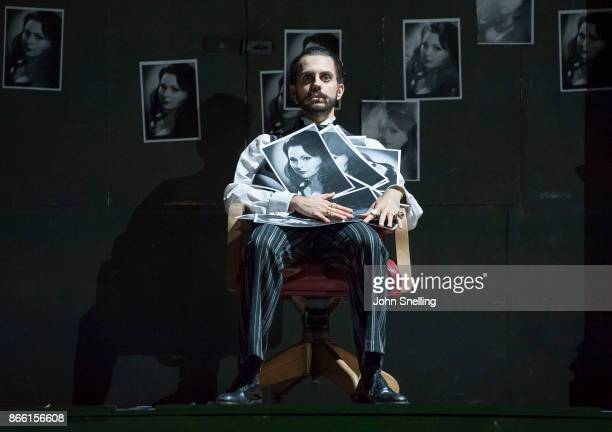 Juan Sancho as Grimoaldo performs on stage in English National Opera's 'Rodelinda' photocall at The London Coliseum on October 24 2017 in London...