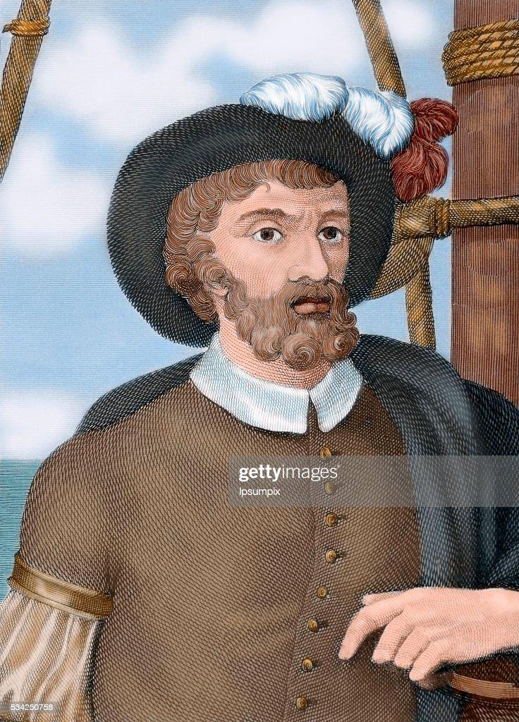 Juan Sebastian Elcano (1476-1526). Spanish explorer. : News Photo