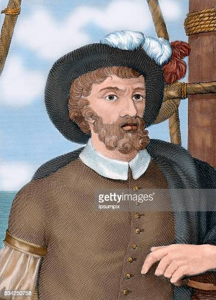 Juan Sebastian Elcano Spanish explorer enlisted in the famous expedition of Magellan First navigator who completed the first circumnavigation of the...