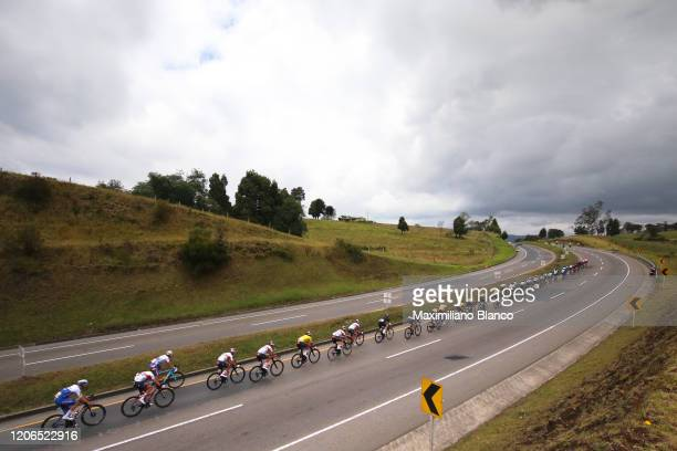 Juan Sebastian Molano Benavides of Colombia and UAE Team Emirates Yellow Points Jersey / Peloton / Landscape / during the 3rd Tour of Colombia 2020,...