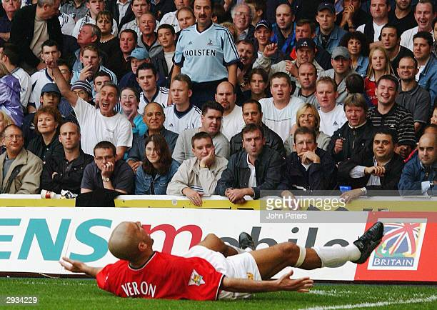 Juan Sebastian Veron during the FA Barclaycard Premiership match between Tottenham Hotspur v Manchester United at White Hart Lane Tottenham Hotspur 3...