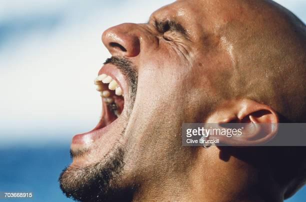 Juan Sebastian Veron of Argentina poses for a portrait for soft drinks manufacturer PepsiCola on 15 August 2001 in Madrid Spain