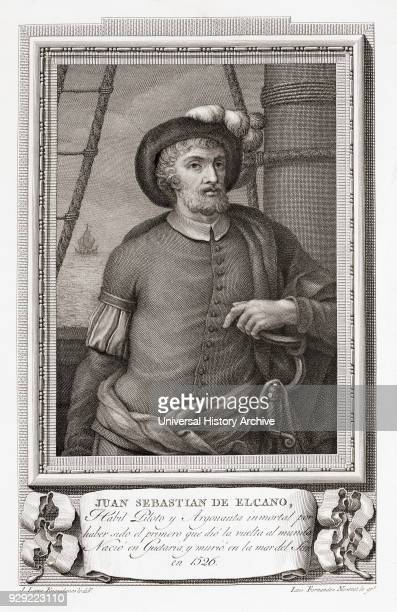 Juan Sebastián Elcano aka Juan Sebastián del Cano 1476 – 1526 Spanish explorer who completed the first circumnavigation of the earth After an etching...