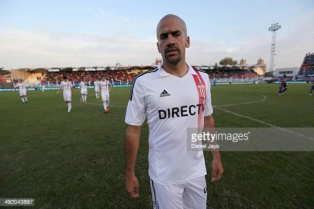 Juan Sebastián Verón before a match between Tigre and Estudiantes as part of 19th round of Torneo Final 2014 at José Dellagiovanna Stadium on May 18...