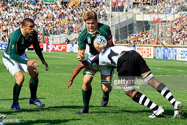 Juan Smith during the IRB World Cup rugby quarter final between South Africa and Fiji.