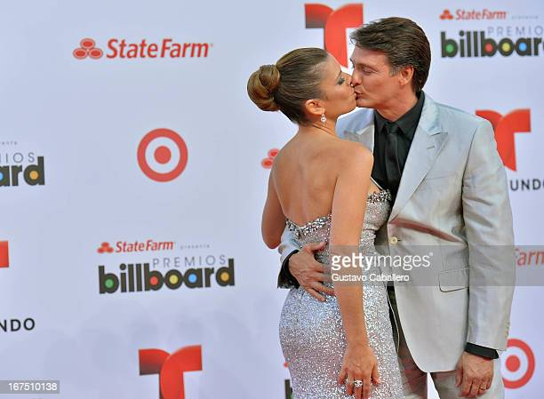Juan Soler and wife Maki arrive at Billboard Latin Music Awards 2013 at Bank United Center on April 25 2013 in Miami Florida