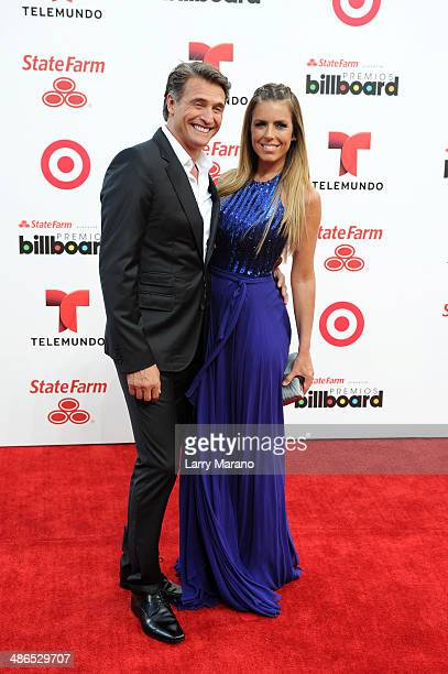 Juan Soler and wife Maki attend the 2014 Billboard Latin Music Awards at Bank United Center on April 24, 2014 in Miami, Florida.