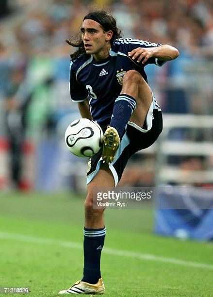 Juan Sorin of Argentina in action during the FIFA World Cup Germany 2006 Group C match between Argentina and Serbia Montenegro at the Stadium...