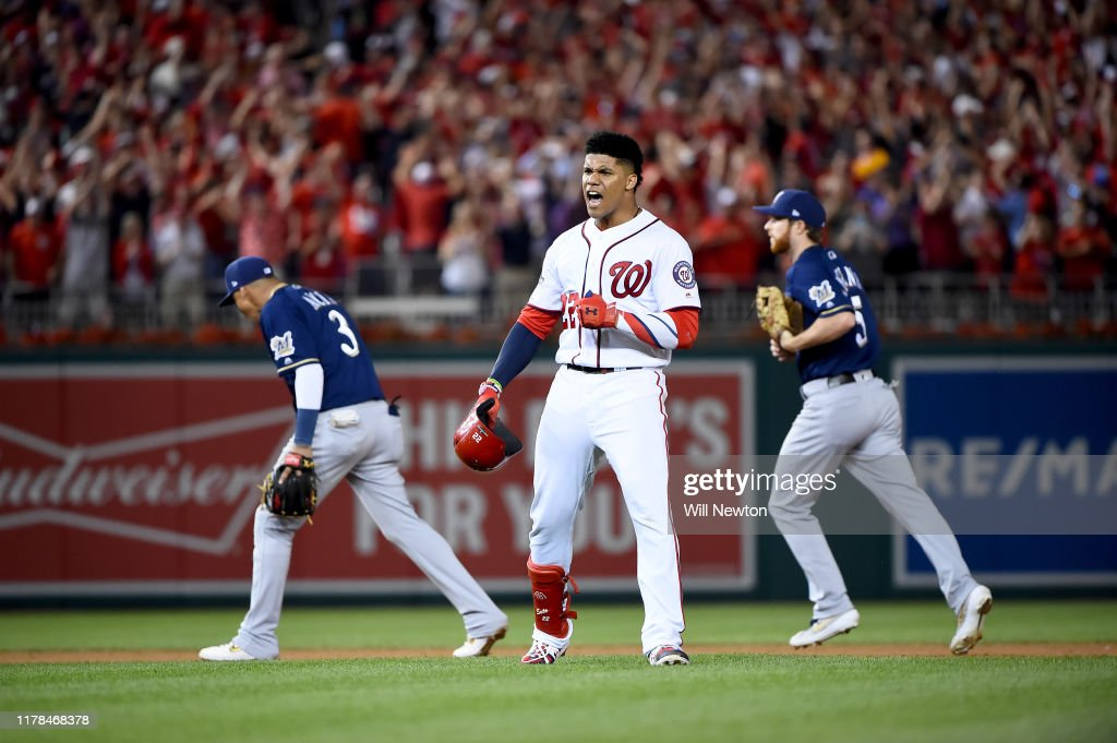 Wild Card Round - Milwaukee Brewers v Washington Nationals : News Photo