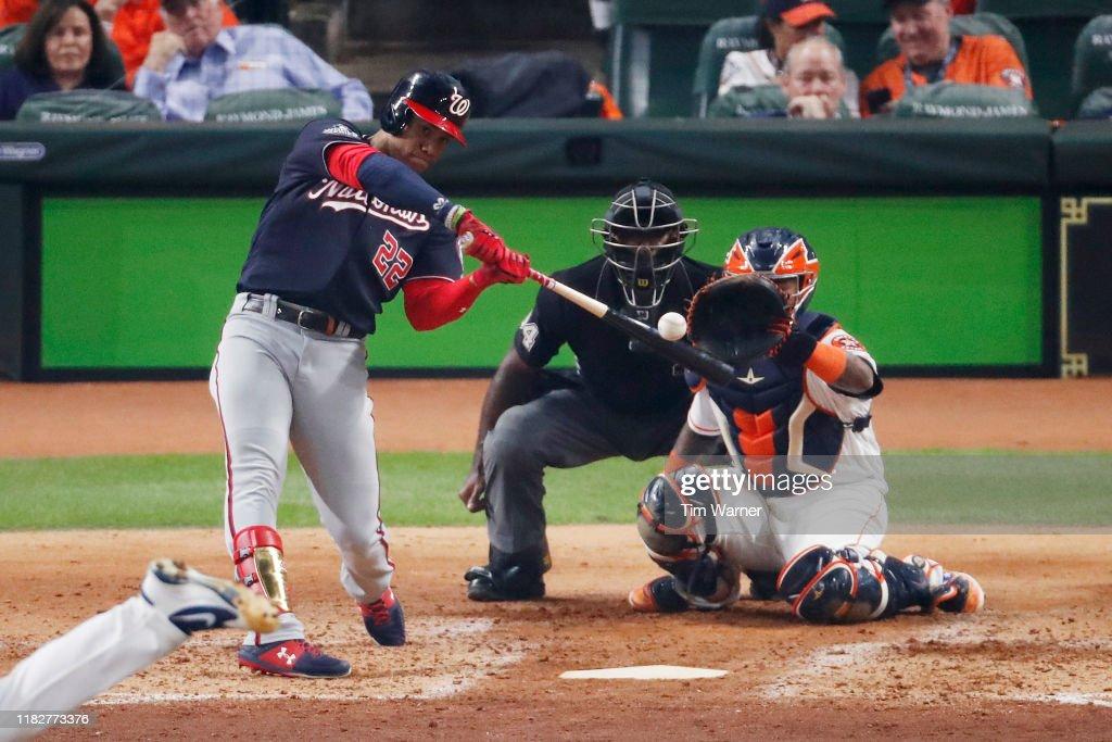 World Series - Washington Nationals v Houston Astros - Game One : News Photo