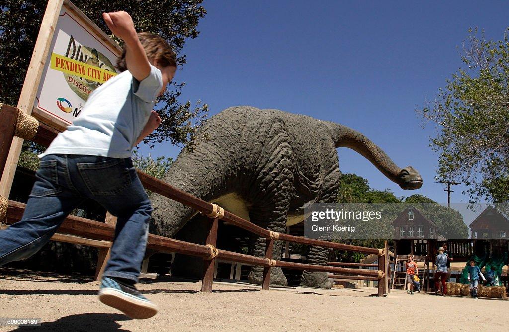 Juan The Dinosaur Is Shown At Zoomars Petting Zoo In San Juan