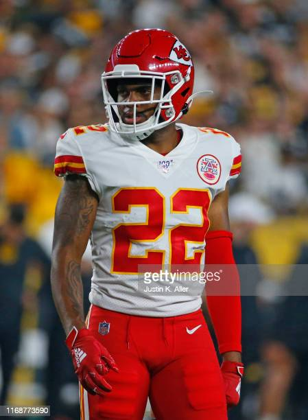 Juan Thornhill of the Kansas City Chiefs in action during a preseason game against the Pittsburgh Steelers on August 17, 2019 at Heinz Field in...