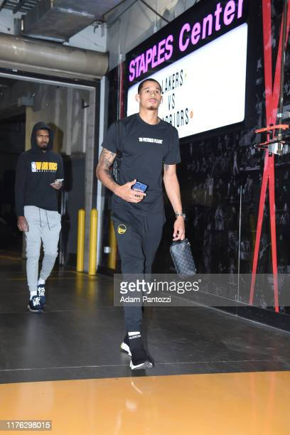 Juan ToscanoAnderson of the Golden State Warriors arrives prior to a preseason game against against the Los Angeles Lakers on October 16 2019 at...