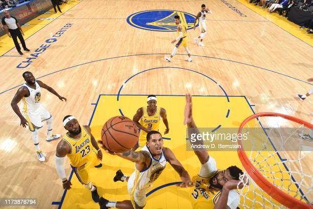 Juan ToscanoAnderson of the Golden State Warriors shoots the ball against the Los Angeles Lakers during the preseason on October 5 2019 at Chase...