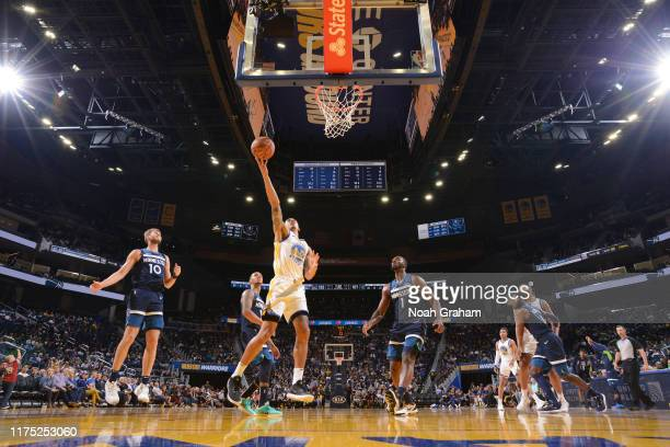 Juan ToscanoAnderson of the Golden State Warriors shoots the ball against the Minnesota Timberwolves during a preseason game on October 10 2019 at...