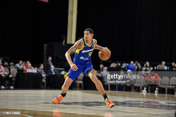 Juan ToscanoAnderson of the Santa Cruz Warriors dribbles the ball against the Agua Client Clippers on December 22 2019 at the Mandalay Bay Events...