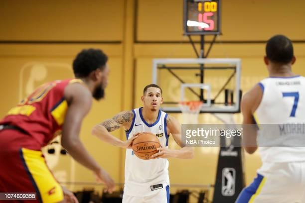 Juan ToscanoAnderson of the Santa Cruz Warriors passes the ball against the Canton Charge during the NBA G League Winter Showcase at Mandalay Bay...