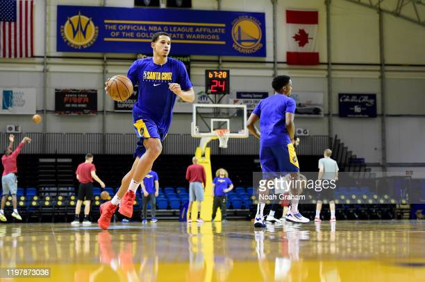 Juan ToscanoAnderson of the Santa Cruz Warriors warms up before the NBA GLeague game against the Sioux Falls Skyforce on January 31 2020 at the...
