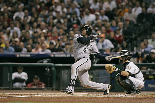 Chicago White Sox Takes A Swing During Game 4 Of The World Series Against Houston Astros At Minute Maid Park In Texas On October 26 2006