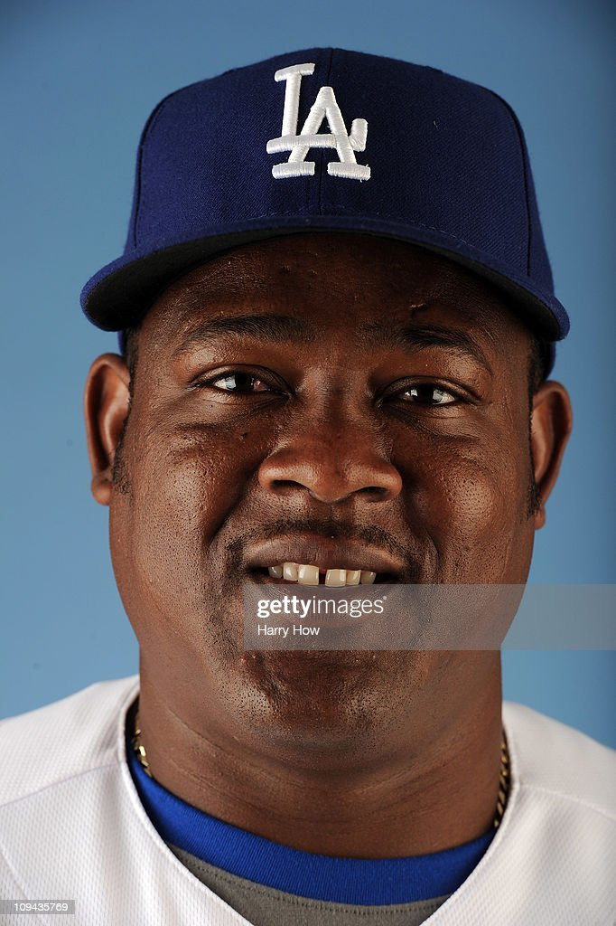 Juan Uribe #5 of the Los Angeles Dodgers poses for a photo on photo day at Camelback Ranch on February 25, 2011 in Glendale, Arizona.