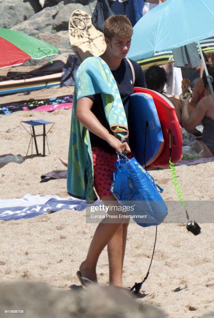 Princess Cristina Of Spain And Family Sighting In Bidart