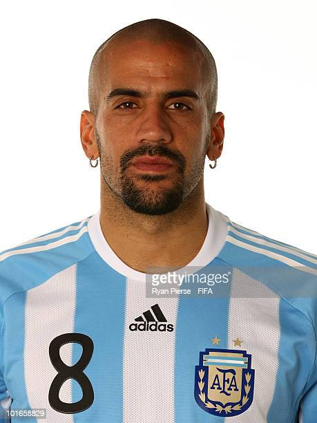 Juan Veron of Argentina poses during the official FIFA World Cup 2010 portrait session on June 5 2010 in Pretoria South Africa