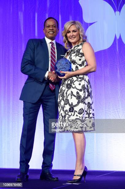 Juan Williams and Amy Carlson attends the 2018 Muhammad Ali Humanitarian Awards on September 20 2018 in Louisville Kentucky