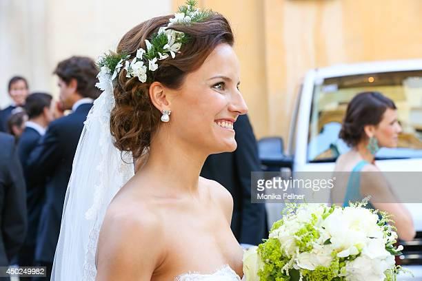 Juan Zorreguieta and Andrea Wolf get married at Servite Church on June 07 2014 in Vienna Austria