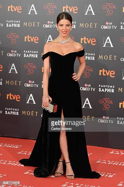 Juana Acosta attends Goya Cinema Awards 2016 at Madrid Marriott Auditorium on February 6 2016 in Madrid Spain