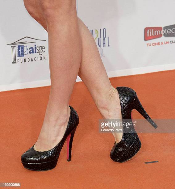 Juana Acosta attends Jose Maria Forque awards photocall at Canal theatre on January 22 2013 in Madrid Spain