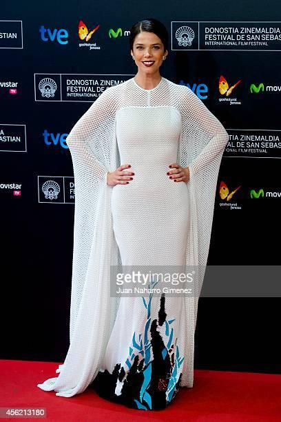 Juana Acosta attends the 62nd San Sebastian International Film Festival closing ceremony at the Kursaal Palace on September 27 2014 in San Sebastian...