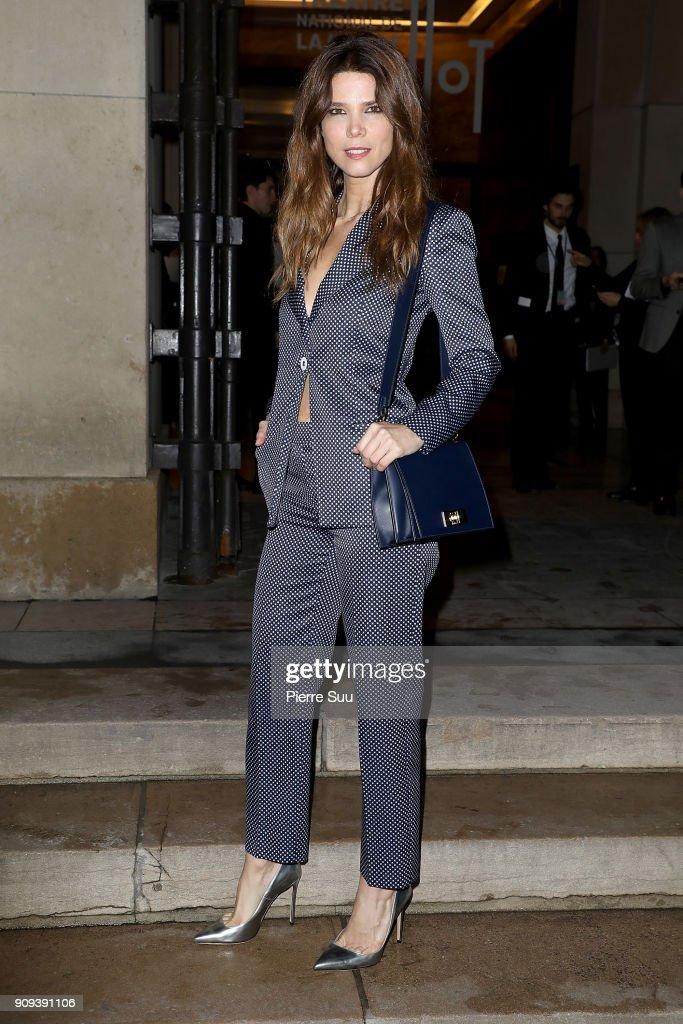 Giorgio Armani Prive : Outside Arrivals - Paris Fashion Week - Haute Couture Spring Summer 2018