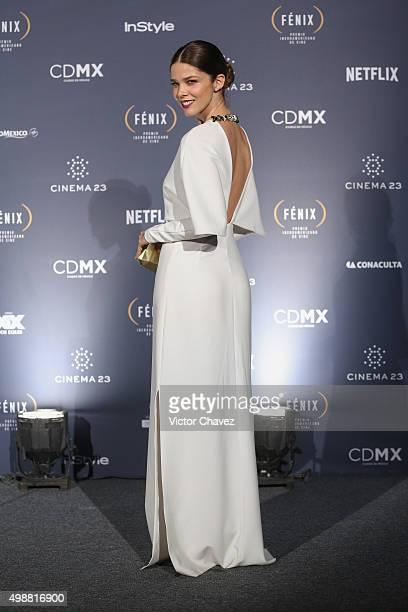 Juana Acosta attends the Premio Iberoamericano de Cine Fenix 2015 at Teatro de La Ciudad on November 25 2015 in Mexico City Mexico