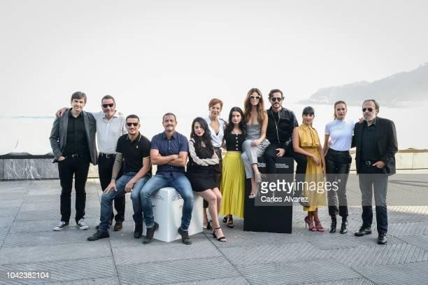 Juana Acosta, Daniel Grao, Jose Coronado, Sofia Oria, Yolanda Torosio and Juan Carlos Librado attend during Gigantes' Photocall - 66th San Sebastian...