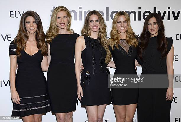 Juana Acosta Judith Masco Vanesa Romero Edurne and Patry Jordan are presented as the new Elvive Ambassador at the ME Reina Victoria Hotel on February...