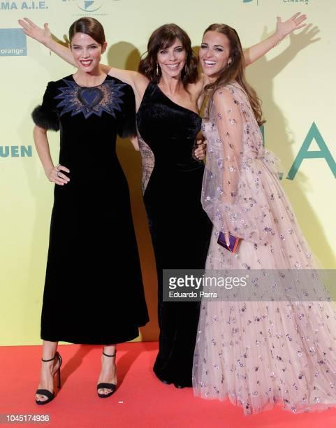 Juana Acosta Maribel Verdu and Paula Echevarria attend the 'Ola de crimenes' premiere at Capitol cinema on October 3 2018 in Madrid Spain