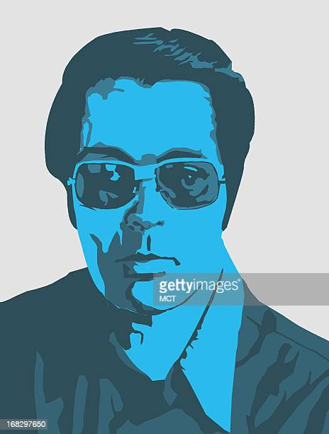 Juancho Cruz illustration of Jim Jones leader of Jonestown religious cult involved in mass suicide MCT via Getty Images 1994<p> krtnational national...