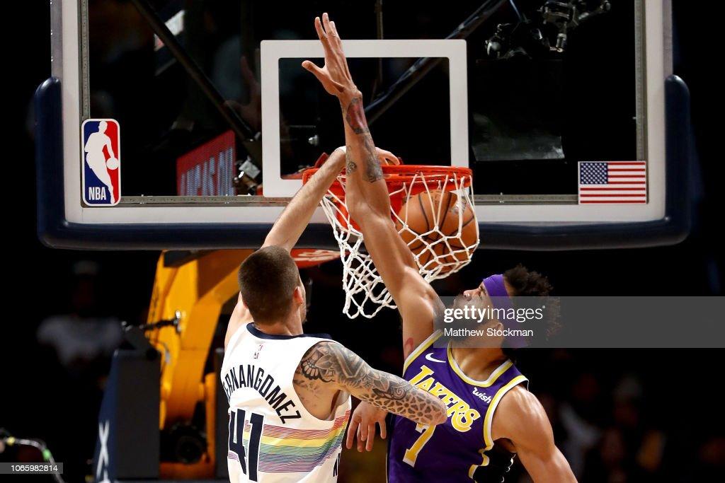 Los Angeles Lakers v Denver Nuggets : Foto jornalística