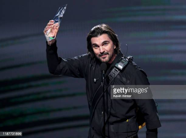 Juanes accepts his Person of The Year Award onstage during the 20th annual Latin GRAMMY Awards at MGM Grand Garden Arena on November 14 2019 in Las...