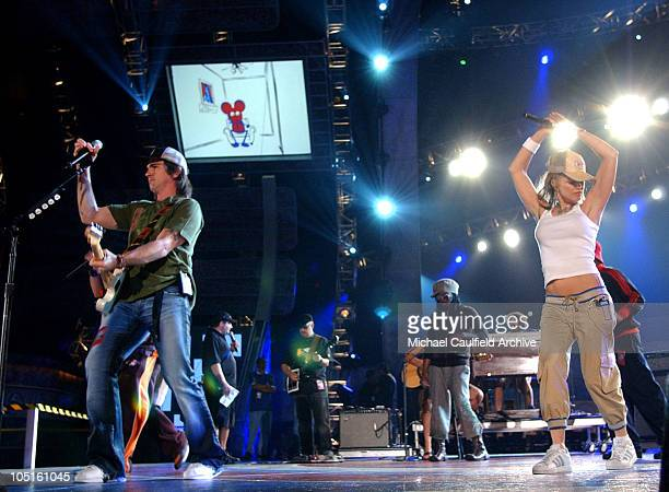 Juanes and Black Eyed Peas during 4th Annual Latin GRAMMY Awards Rehearsals Day 2 in Miami United States