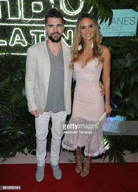 "Juanes and his wife Karen Martinez are seen at the premiere of ""The Juanes Effect"" at Faena Forum on May 18, 2017 in Miami Beach, Florida."