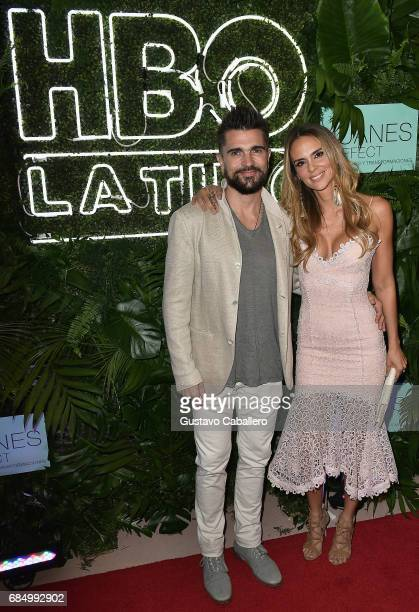 Juanes and his wife Karen Martinez are seen at the premiere of 'The Juanes Effect' at Faena Forum on May 18 2017 in Miami Beach Florida