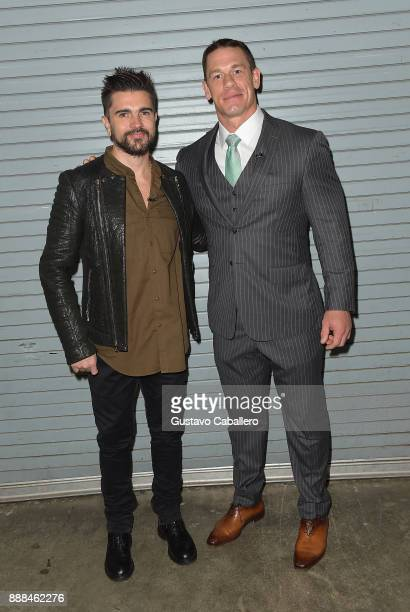 Juanes and John Cena are seen on the set of 'Despierta America' to promote the film 'Ferdinand' at Univision Studios on December 8 2017 in Miami...