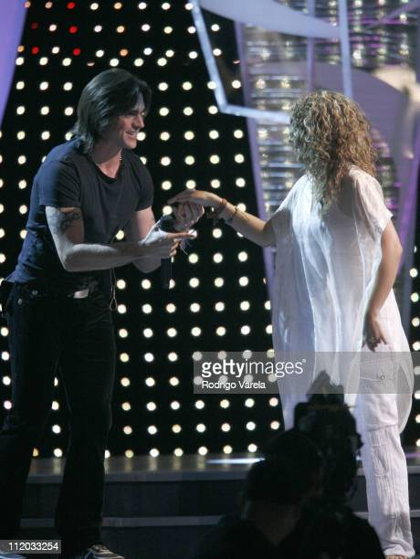 Juanes and Shakira during 2006 Premio Lo Nuestro Awards Show at American Airlines Arena in Miami Florida United States