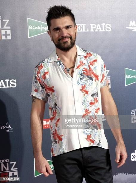 Juanes attends the 'Mas Es Mas' concert photocall at Vincente Calderon stadium on June 24, 2017 in Madrid, Spain.