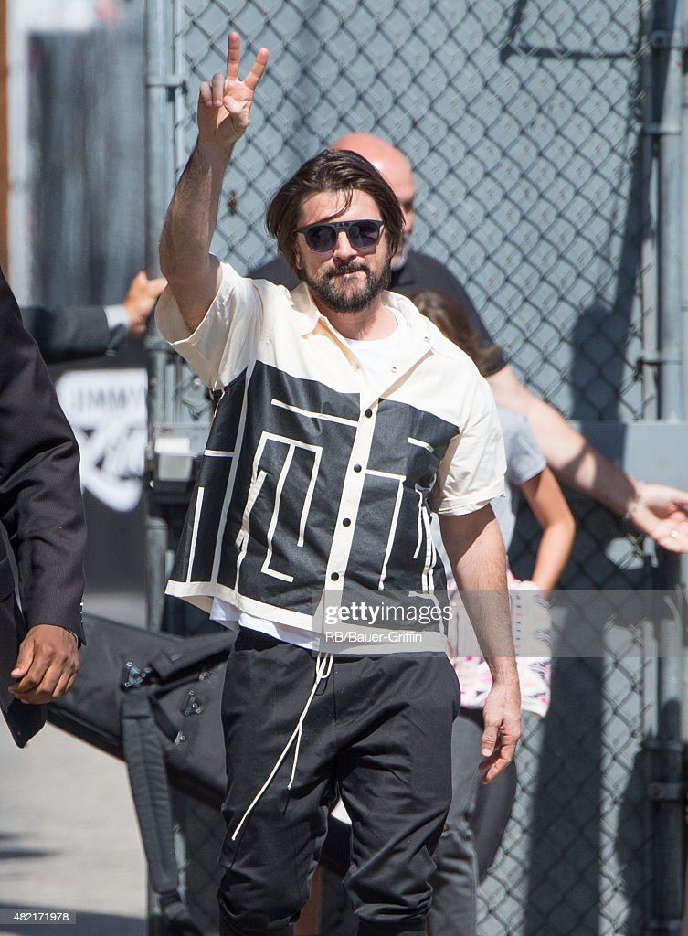 Juanes is seen at the 'Jimmy Kimmel Live' show studios on July 27, 2015 in Los Angeles, California.