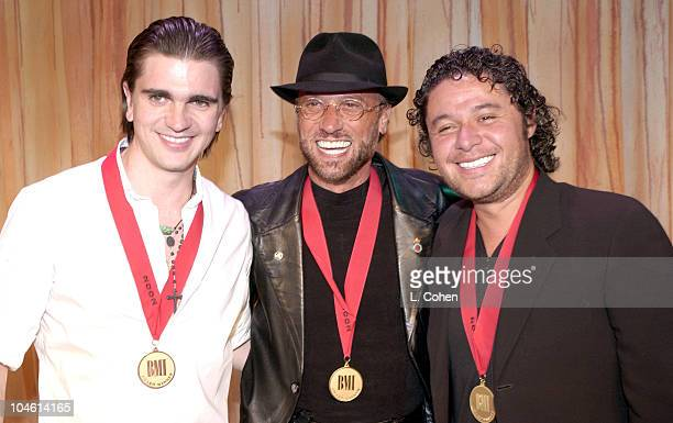 Juanes Maurice Gibb Estefano during BMI 9th Annual Latin Awards at Diplomat Hotel in Miami Florida United States