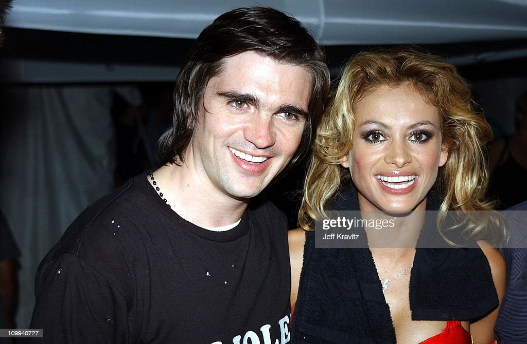 Juanes & Paulina Rubio during MTV Video Music Awards Latinoamerica 2002 at Jackie Gleason Theater in Miami, FL.
