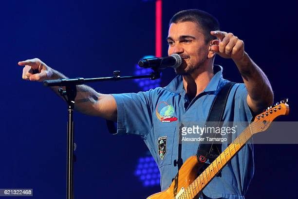 Juanes performs on stage at iHeartRadio Fiesta Latina at American Airlines Arena on November 5 2016 in Miami Florida